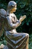 Statua dell'angelo alla preghiera Immagini Stock