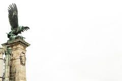 Statua dell'aquila nel cielo Fotografie Stock