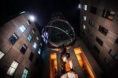 Statua dell'atlante al centro di Rockefeller Fotografie Stock Libere da Diritti