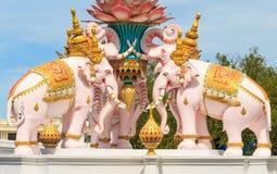 Statua dell'elefante bianco Immagini Stock Libere da Diritti