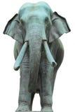 Statua dell'elefante del metallo Fotografie Stock