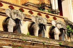 Statua dell'elefante dell'Asia, Tailandia Immagine Stock Libera da Diritti