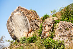 Statua dell'elefante a Mingun, Myanmar Immagini Stock