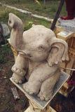 Statua dell'elefante, tempio in Tailandia Fotografia Stock Libera da Diritti
