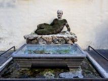 Statua dell'IL Babuino a Roma Fotografia Stock