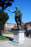 Statua dell'imperatore Augustus (Roma) immagini stock libere da diritti