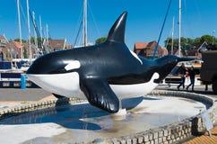 Statua dell'orca Fotografie Stock