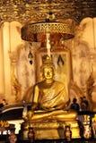 STATUA dell'ORO di BUDDHA in TEMPIO 1 Fotografia Stock Libera da Diritti