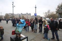 Statua dell'orso di Paddington, Londra Fotografie Stock Libere da Diritti
