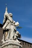 Statua dell'uomo anziano Fotografia Stock