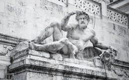 Statua dell'uomo bianco del della Patria, Roma di Altare Fotografia Stock