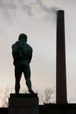Statua dell'uomo nudo dalla parte posteriore Fotografie Stock