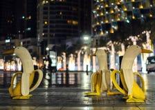 Statua della banana nel centro della città Immagini Stock Libere da Diritti