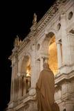 Statua della basilica di Palladian e di Palladio fotografia stock libera da diritti