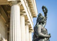 Statua della Baviera - Monaco di Baviera Fotografia Stock Libera da Diritti