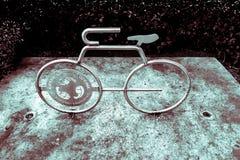 Statua della bici nel Ft del centro Lauderdale, Florida Fotografia Stock