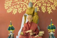 Statua della cera dei monaci come sacra fotografia stock libera da diritti