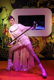 Statua della cera di Anita Mui della diva di Hong Kong Cantopop ai tussauds di signora a Hong Kong fotografie stock