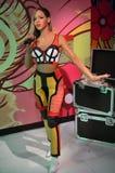Statua della cera di Rihanna Immagini Stock