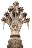 Statua della cobra e del Buddha Fotografia Stock Libera da Diritti