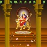 Statua della dea Durga sulla tigre, mitologia indù Fotografia Stock