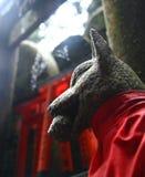 Statua della divinità shintoista di Inari Fotografie Stock Libere da Diritti