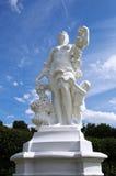 Statua della donna nel giardino dal castello di Augustusburg nel ¼ h di Brà fotografie stock