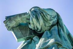 Statua della fine di libertà in su Fotografia Stock Libera da Diritti