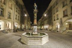 Statua della fontana di Justicia fotografia stock libera da diritti