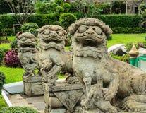 Statua della Leone-Cina Fotografia Stock Libera da Diritti
