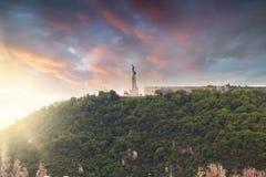 Statua della libertà, collina di Gellert, Budapest, Ungheria Immagine Stock