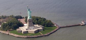 Statua della libertà da aria Immagini Stock