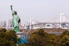 Statua della libertà nel Giappone fotografia stock libera da diritti