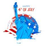 Statua della libertà per la quarta della celebrazione di luglio Immagini Stock Libere da Diritti