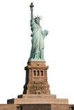 Statua della libertà su fondo bianco Fotografia Stock