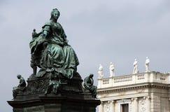 Statua della Maria Theresia a Vienna Immagine Stock