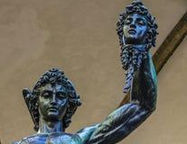 Statua della medusa di Perseo Fotografie Stock