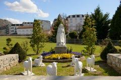 Statua della nostra signora di Lourdes Immagine Stock Libera da Diritti