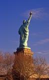 Statua della parte posteriore di libertà Immagini Stock