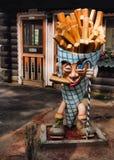 Statua della patata fritta Fotografia Stock Libera da Diritti