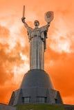 Statua della patria, Kiev Fotografia Stock