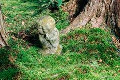 Statua della pietra del tempio di Sanzenin in Ohara, Kyoto, Giappone immagini stock