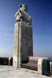 Statua della ragazza e del cavallo Fotografia Stock