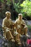 Statua della rana pescatrice buddista Immagini Stock Libere da Diritti
