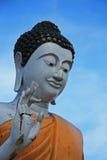 Statua della rana pescatrice buddista Fotografia Stock