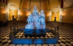 Statua della regina Isabella della costruzione del Campidoglio fotografia stock libera da diritti