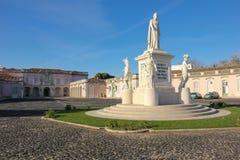 Statua della regina Maria I. National Palace. Queluz. Il Portogallo fotografie stock