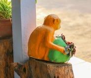 Statua della scimmia Fotografia Stock Libera da Diritti