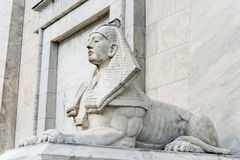 Statua della Sfinge dell'Egitto immagine stock
