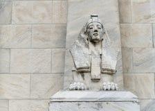 Statua della Sfinge dell'Egitto fotografia stock